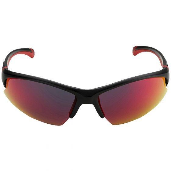 Swiss Eye occhiali da sole Flash - lenti fumo BR + arancioni + trasparenti/montatura nero opaco