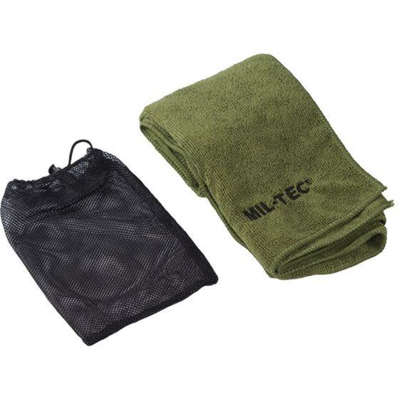 Mil-Tec asciugamano in microfibra 120cm x 60cm in verde oliva