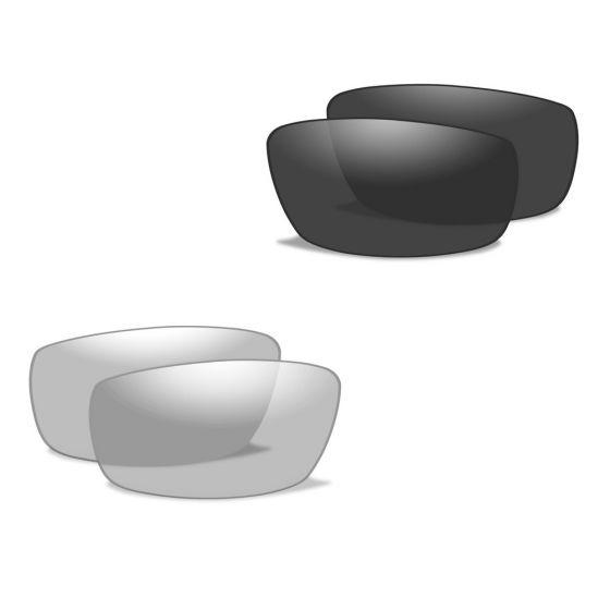 Wiley X occhiali XL-1 Advanced lenti fumé grigie + lenti trasparenti e struttura in nero opaco