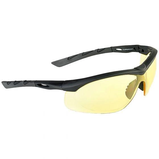 Swiss Eye occhiali da sole Lancer - lenti gialle / montatura in gomma nera
