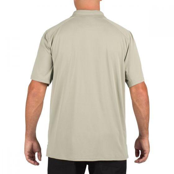 5.11 Helios Polo Short Sleeve Silver Tan