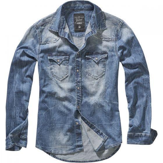 Brandit camicia di jeans Riley in blu