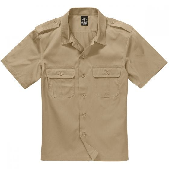 Brandit camicia US a maniche corte in beige