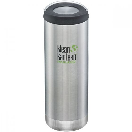 Klean Kanteen borraccia termica TKWide con tappo ad anello 473ml in Brushed Stainless