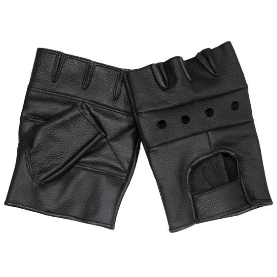 MFH guanti in pelle Deluxe in nero