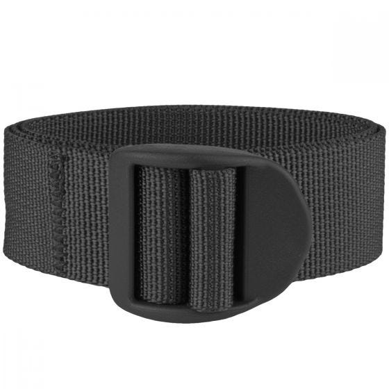 Mil-Tec cinghia da 25 mm con fibbia e lunghezza 120 cm in nero