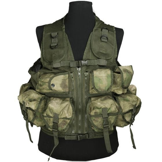 Mil-Tec gilet tattico Ultimate Assault in MIL-TACS FG