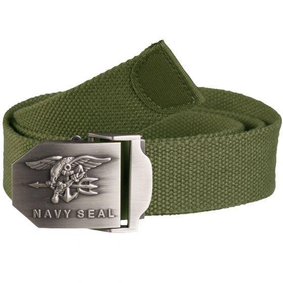 Mil-Tec cintura US Navy Seal 38 mm in verde oliva