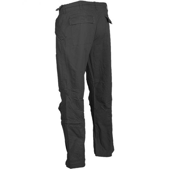 Mil-Tec pantaloni pilota in cotone popeline prelavato in nero