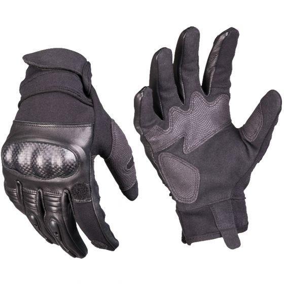 Mil-Tec guanti tattici in pelle Gen 2 in nero