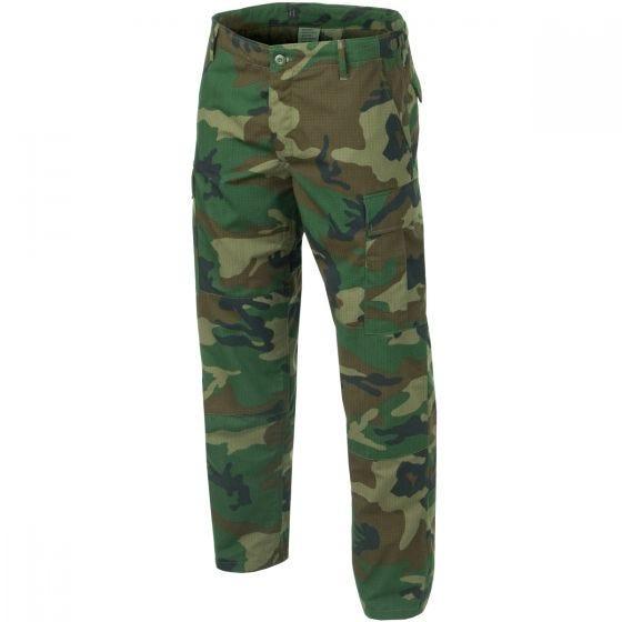 Teesar pantaloni BDU in ripstop in Woodland