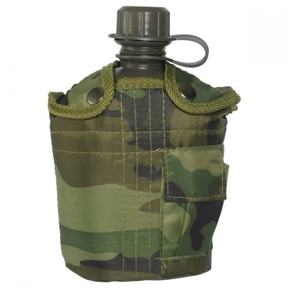 Mil-Tec borraccia militare da 1 litro con custodia in Woodland