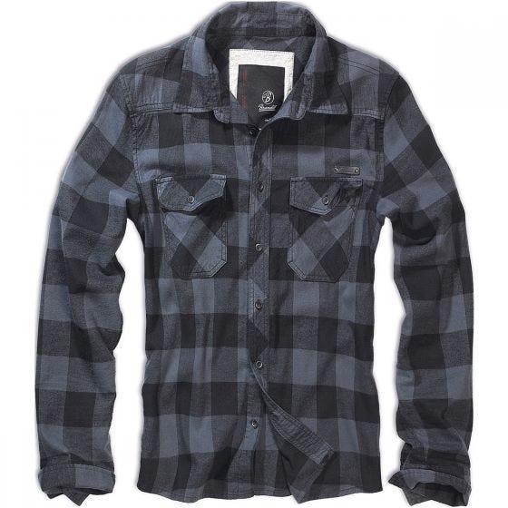 Brandit camicia a quadri in nero / grigio