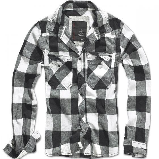 Brandit camicia a quadri in bianco / nero
