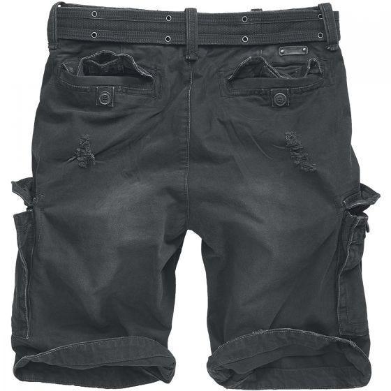 Brandit Shorts Shell Valley Heavy Vintage in nero