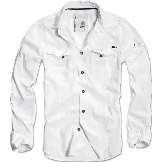 Brandit maglia taglio slim fit in bianco