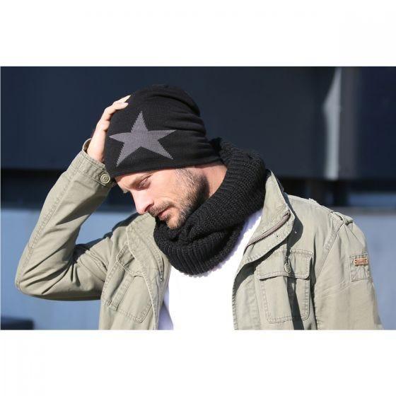 Brandit cappello beanie con stella in tortora