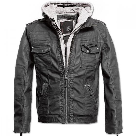 Brandit giacca Black Rock in nero / grigio