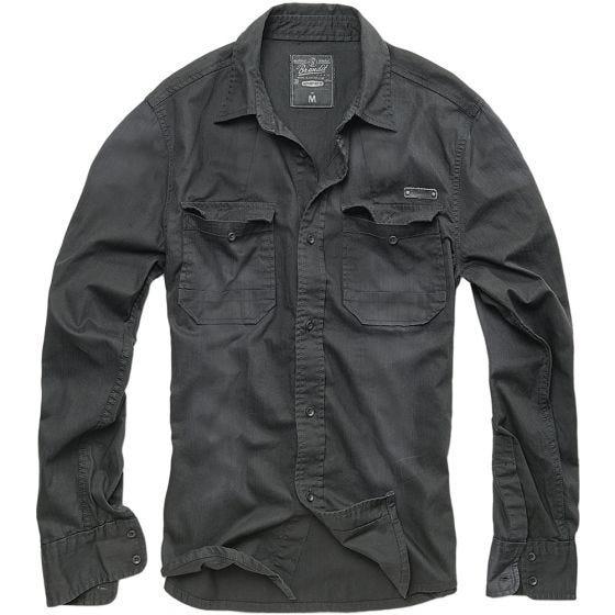 Brandit camicia Hardee Denim in nero