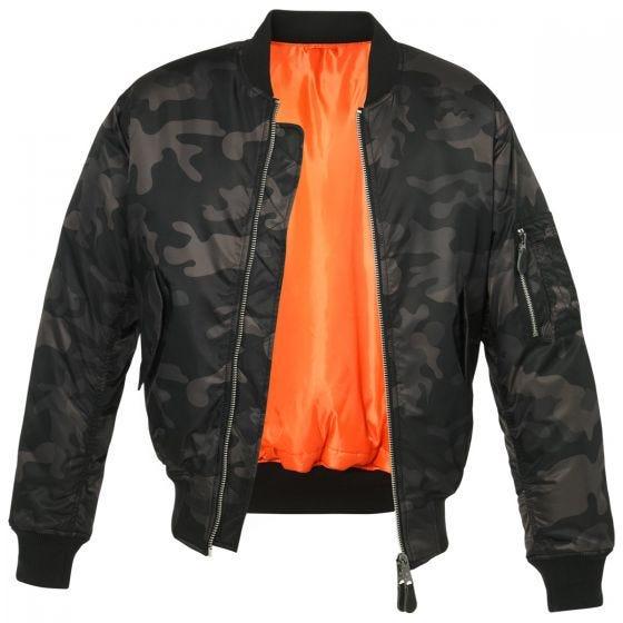 Brandit giacca mimetica MA1 in Dark Camo