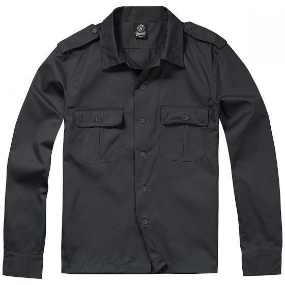 Brandit camicia US a maniche lunghe in nero