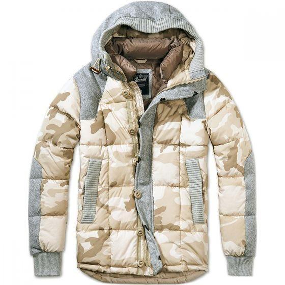 Brandit giacca Garret in Desert Camo e grigio
