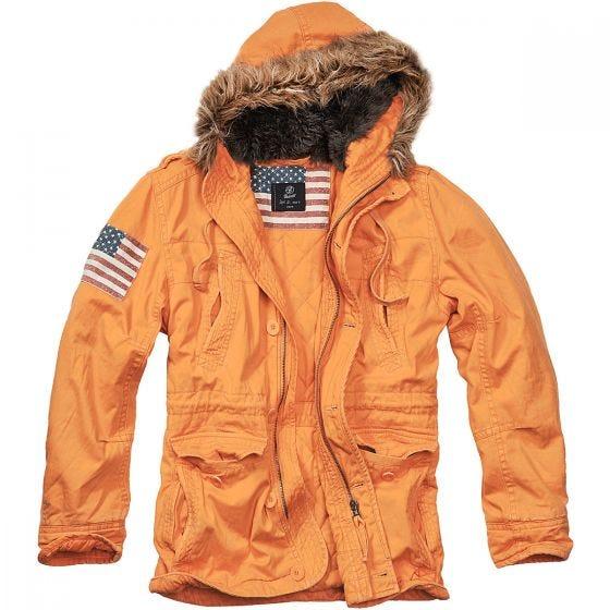Brandit giacca Vintage Explorer Stars & Stripes in arancione