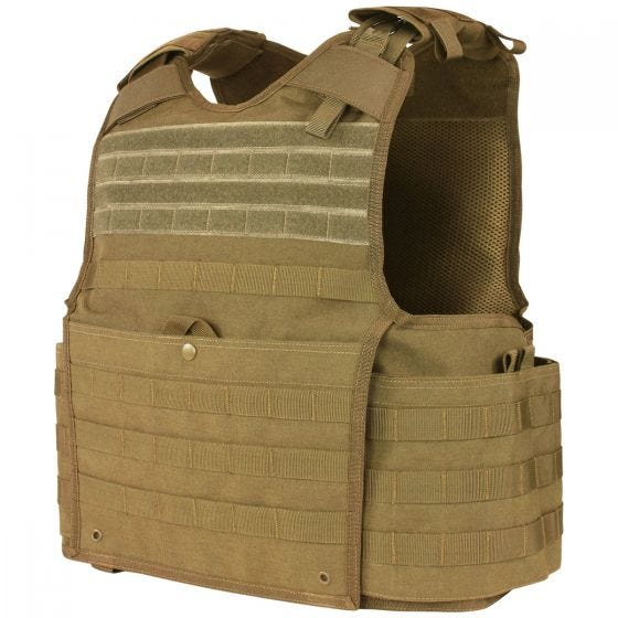 Condor Plate Carrier a rilascio Enforcer in Coyote Brown
