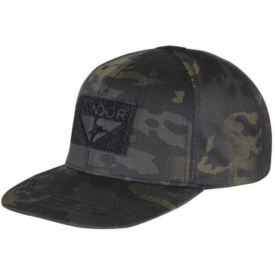 Condor cappello con retro regolabile e visiera piatta in MultiCam Black