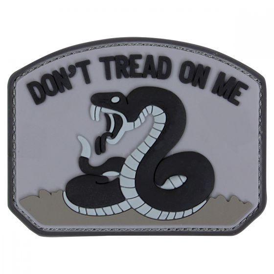"""Condor toppa PVC con scritta """"Don't Tread On Me"""" in nero"""