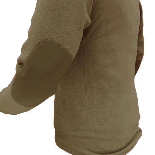 Condor maglione in pile con zip sul colletto in Tan