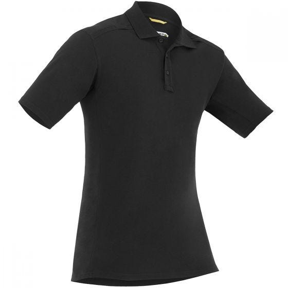 First Tactical maglietta uomo stile polo a manica corta con tasca per penna in nero