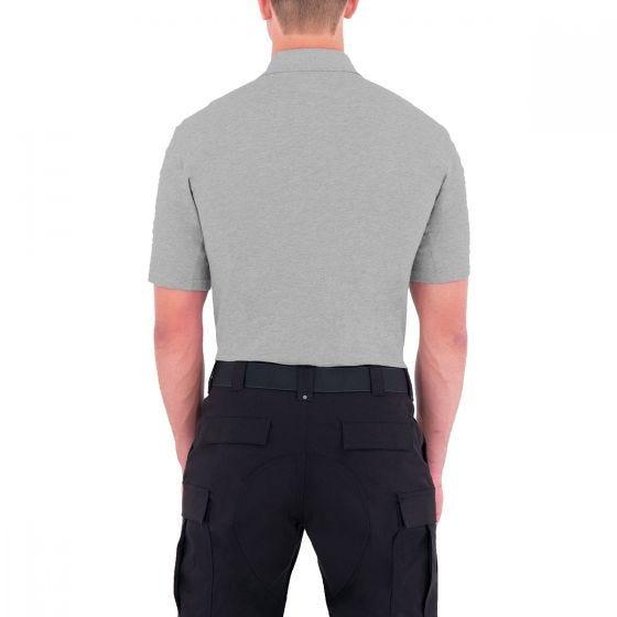 First Tactical maglietta uomo stile polo a manica corta con tasca per penna in Heather Grey