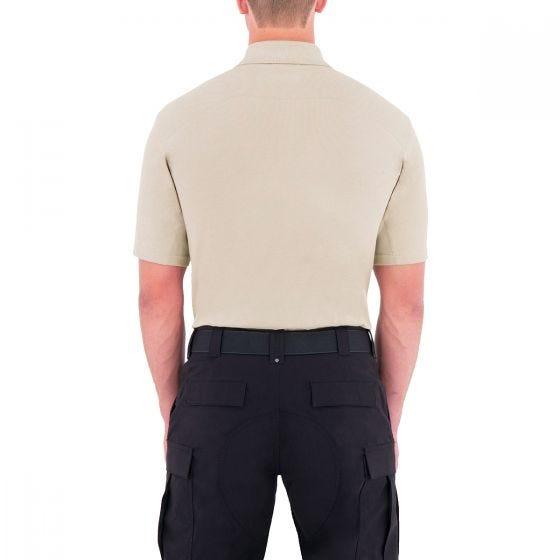 First Tactical maglietta uomo stile polo a manica corta con tasca per penna in cachi