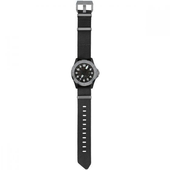 First Tactical orologio Ridgeline con cassa in carbonio colore acciaio INOX spazzolato / nero