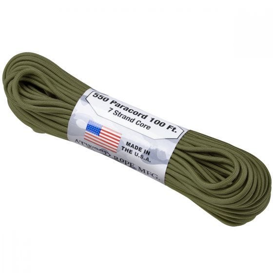 Atwood corda 550 Lbs. Paracord in verde oliva