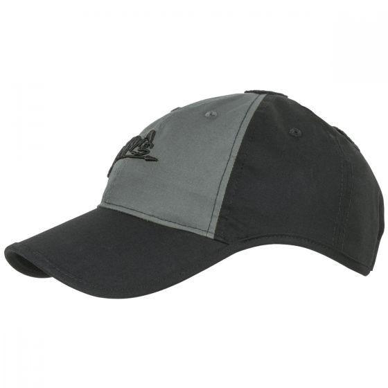 Helikon Logo Cap Polycotton Ripstop Black / Shadow Grey