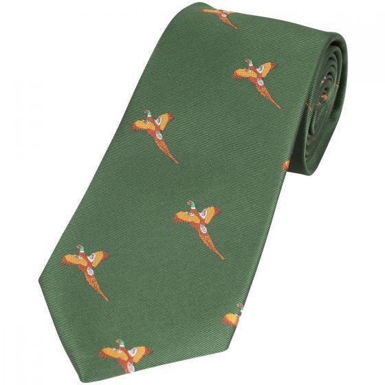 Jack Pyke cravatta fantasia fagiano in verde