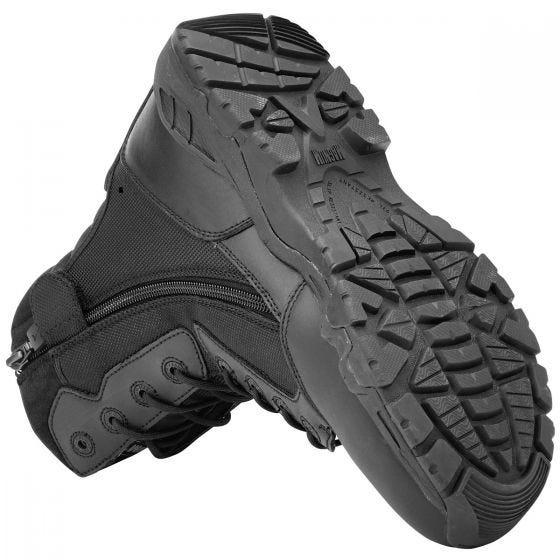 Magnum anfibi Viper Pro 8.0 in nero con zip laterale