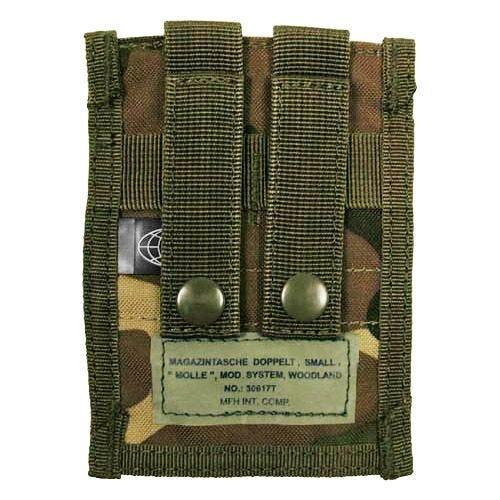 MFH custodia doppia small portacaricatore 9 mm MOLLE in Woodland