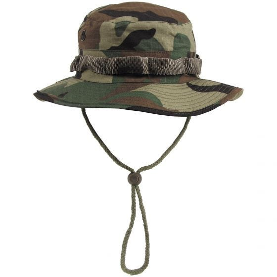 MFH cappello boonie GI in Ripstop Woodland