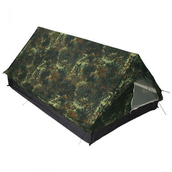 MFH tenda Minipack per 2 persone con zanzariera in Flecktarn