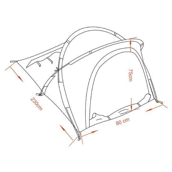 """MFH tenda """"Osser"""" con struttura in alluminio in Flecktarn"""