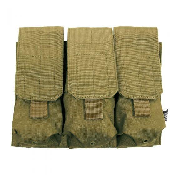 MFH custodia tripla portacaricatore M4/M16 MOLLE in Coyote