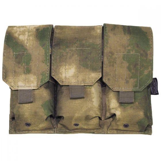 MFH custodia tripla portacaricatore M4/M16 MOLLE in HDT Camo FG