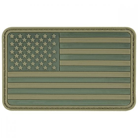 MFH patch con bandiera 3D USA in velcro in verde oliva
