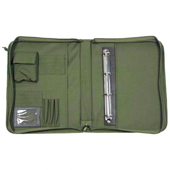 MFH custodia per taccuino De Lux con protezione per mappa in OD Green