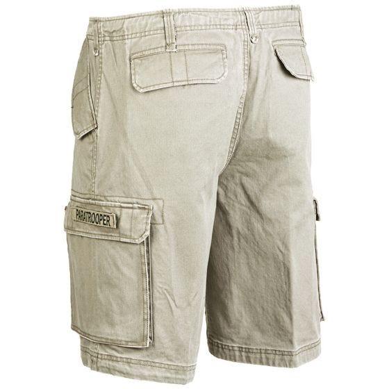 Mil-Tec shorts cargo da paracadutista prelavati in cachi