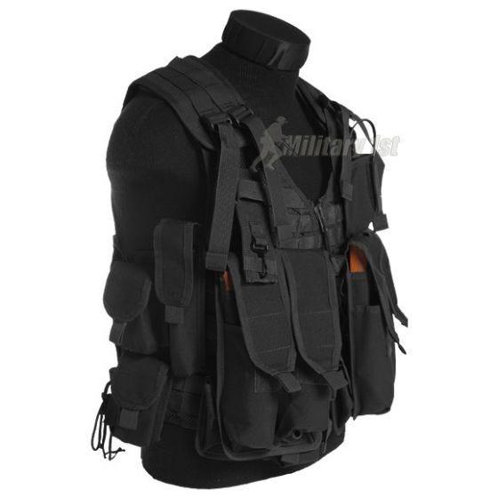 Mil-Tec gilè AK74 con tasconi nero