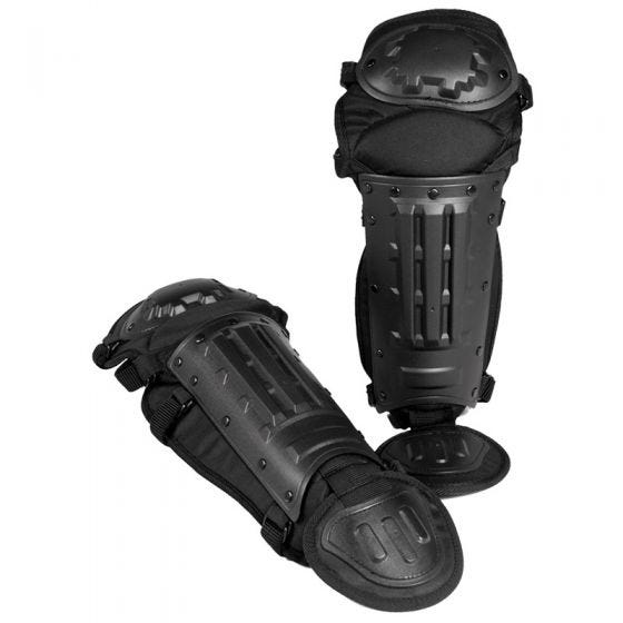 Mil-Tec protezioni gambe antisommossa in nero